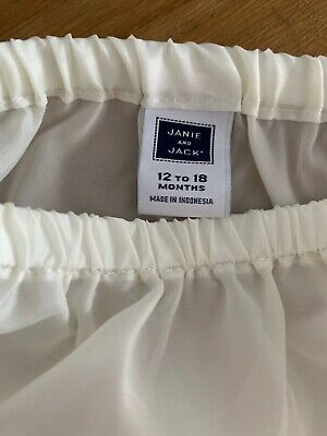 Janie & Jack 12-18 months Nappy cover white baby pants