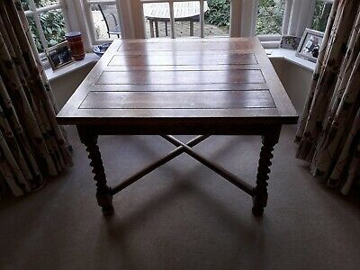 Antique Solid Oak Extending Dining Table
