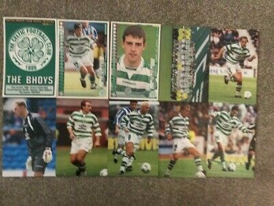 Panini Scottish Premier League Collection 98-99 Season 10 x CELTIC All Diff VG