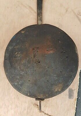 CAST IRON ?? Vintage PENDULUM BOB (5 in) for grandfather clock - FOR PARTS ONLY