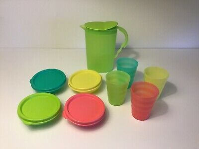 Tupperware Impressions 13 Pc Mini Play Set Toy New Pitcher, Cups, Bowls, Lids
