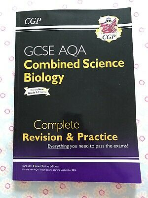 CPG Combined science, Biology AQA Revision And Practice Guide GCSE