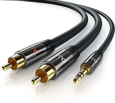 Primewire 2 RCA Phono To 3.5mm Stereo Jack Cable 3m Y Audio Splitter Connect
