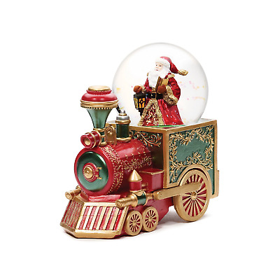 Santa On Train Christmas Snow Globe