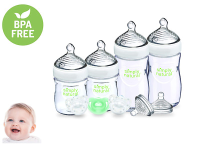 NUK Simply Natural Baby Bottle Newborn Gift Set, Gender Neutral, 5 & 9 Ounce