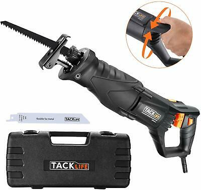 TACKLIFE Reciprocating Saw, 850W 2800SPM Sabre Saw with Rotary Handle(90° Left