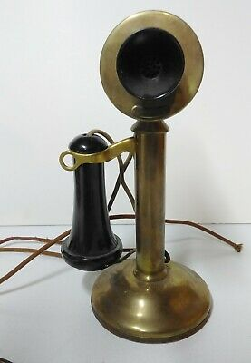 Vintage 1920's Western Electric Brass Candlestick Phone