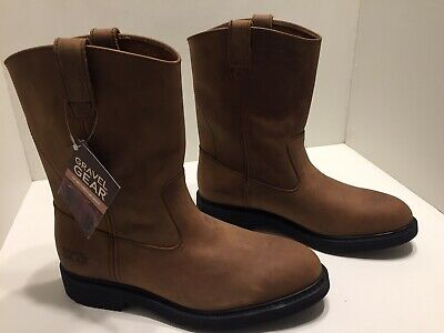 Size 11 1//2 Wellington Boots Gravel Gear Mens 10in Brown