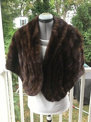 Vintage Mink Stole Shawl Wrap Real Fur Genuine Luxurious High Quality