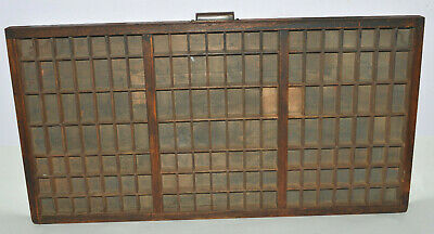 Vintage Printer's Type Tray / Drawer Carrom Co. Full Size Triple Case Shadow Box