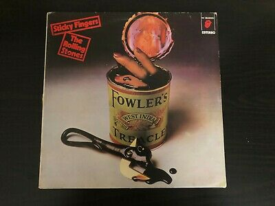 Rolling Stones Sticky Fingers 1980 Spanish Pressing Alternate Cover Let it Rock