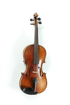 Antique Full Size German Violin Circa 1880 with Vintage Jaeger Etui Case