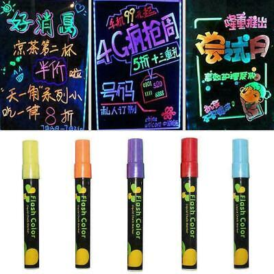 8Color6mm Colorful Dual Nib Liquid Chalk Highlighter Fluorescent Neon Marke D9M9