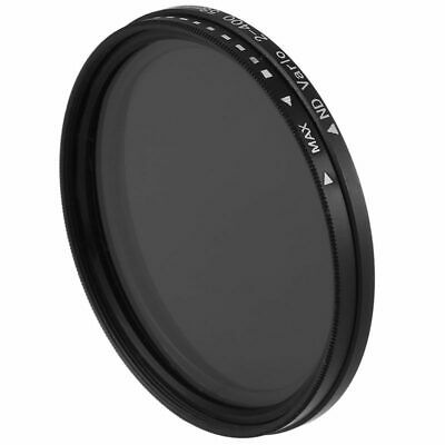 58mm Fader Variable ND Filter Neutral Density ND2 ND4 ND8 ND16 To ND400 Len S8J5
