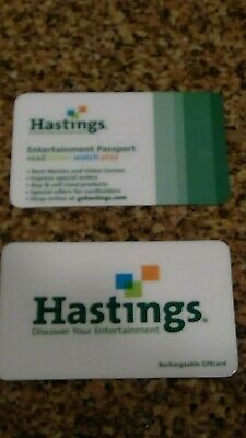 Hastings Gift Card + Entertainment Passport   Collectible Closed Store