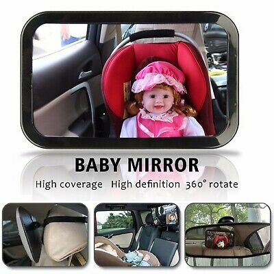 360 Degree Adjustable Car Baby Chair Seat Care Rear View Safety Observe Mirror