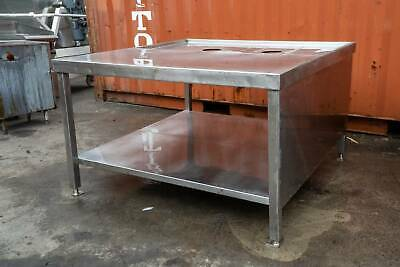 Large stainless steel bench