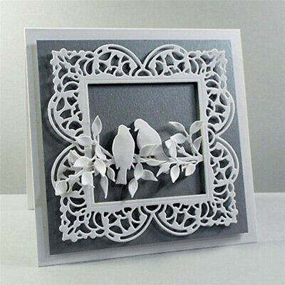Square Frame Metal Cutting Dies Stencil DIY Card Making Scrapbooking Album Paper