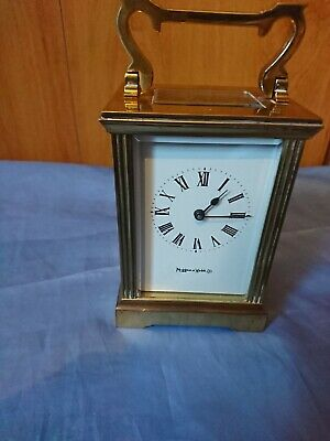 A Fine Vintage Brass Carriage Clock By Mappin And Webb