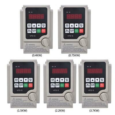 Single To 3Phase Motor Governor Variable Frequency Drive Inverter 0.4-3.7KW 220V