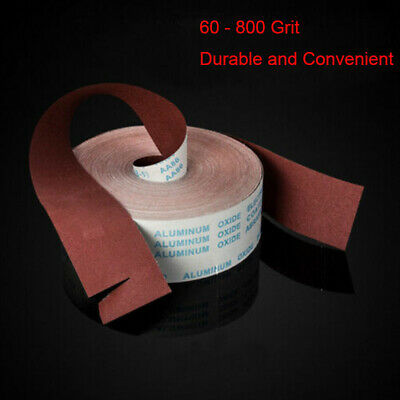 60 - 800 Grit Aluminium Oxide Sanding Sandpaper Wide Emery Cloth Roll  4'' 100mm