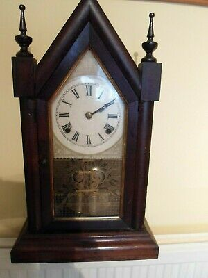 Antique, Ansonia, Sharp Gothic,. V.p.   Mantle Clock, With Original Key, Used