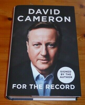 David Cameron. For The Record Autobiography. Signed. Autographed. Hardback. New