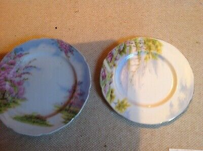 """2side plates.A Paragon china plate depicting """"Cliffs of Dover & a Japanese  Mual"""