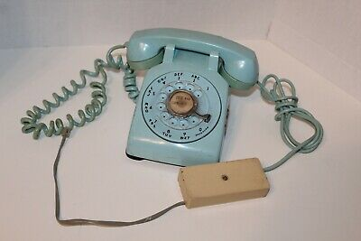 VTG Rotary Dial Telephone baby blue Bell System Western Electric C/D 500 Phone