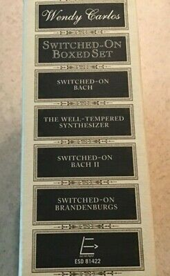 Switched-On Boxed Set Highlights by Wendy Carlos (CD, Oct-1999, 4 Discs, ESD...
