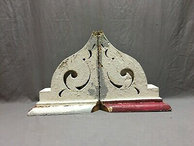 Pair Antique Roof Corbels Shelf Brackets 13x14 Shabby Vtg Chic Salvage 279-19J