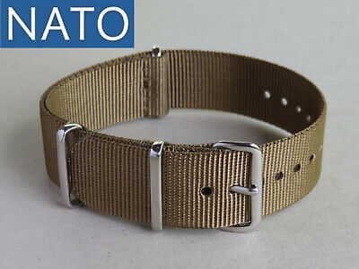 BRACELET MONTRE NATO 22mm khaki militaire outdoor ultra trail shock resistant