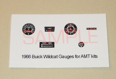 1965 - 1966 BUICK WILDCAT GAUGE FACES for 1/25 scale AMT KITS