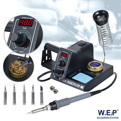 WEP Soldering Iron Station Rework Kit Variable Stand Temperature Digital LED 60W