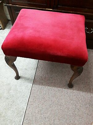 Antique mahogany large sprung piano/ foot / dressing table seat stool