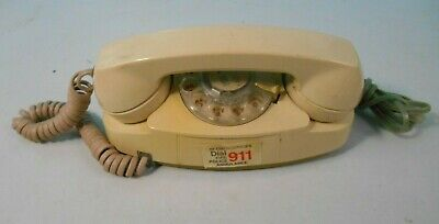 Vintage Bell System 702B Princess Rotary Phone Cream Color Working