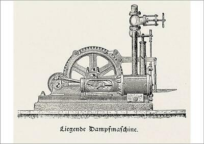 19520863 A1 (84x59cm) Poster of Steam engine, horizontal