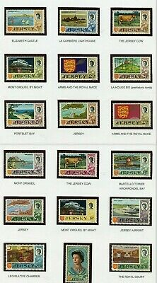 1970 - 74   Jersey Decimal Definitive Issue   SG D42 - 56 / MNH