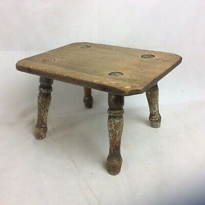 Antique Early 19thC Rustic Milking Stool