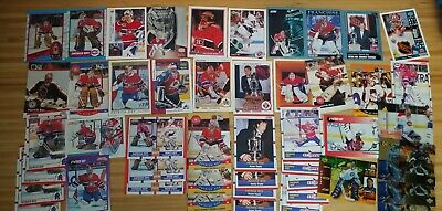 Patrick Roy Hockey Card Lot: Various Years & Makes Montreal Canadiens HOF'er