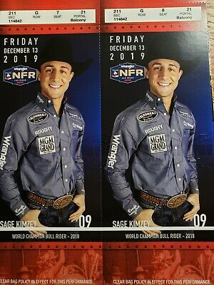 NFR National Finals Rodeo Tickets Day 9, Friday December 13, 2019