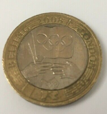 £2 Two Pound Coin – Beijing 2008 to London 2012 Olympic Handover (Circulated)