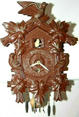 Antique / Vintage1950'S Animated Dove Cuckoo Style Pendulette Wall Clock.