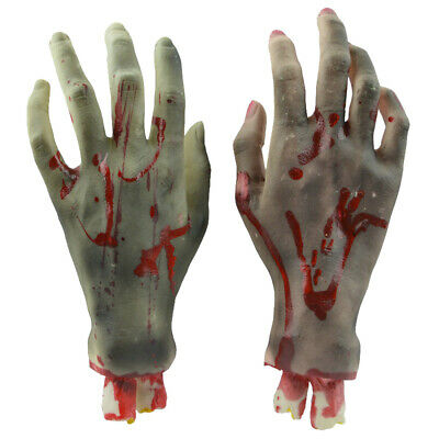 Halloween Horror Props Lifesize Bloody Hand Haunted House Scary Party Decoration