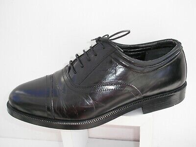 Clarks Black Leather Lace Up Oxfords Vgc Uk 8.5 Wide