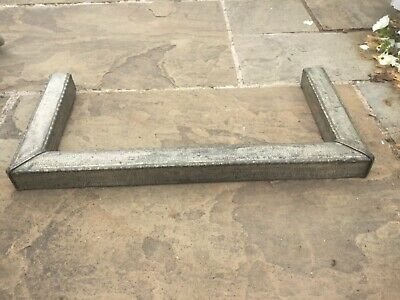 """Art nouveau pewter small bedroom fireplace fender 26"""" x 12.5"""""""