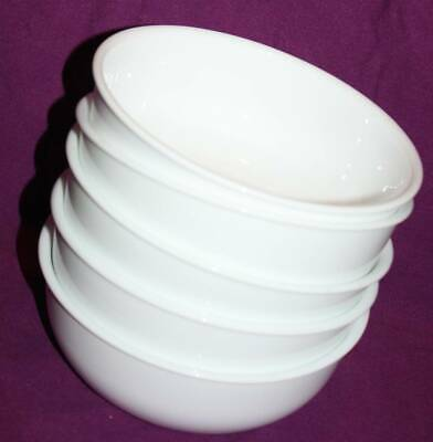 set of 5 CORELLE 28oz SOUP-CHILI-CEREAL BOWLS-WINTER FROST WHITE
