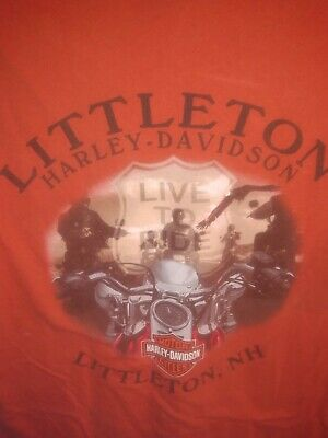 Harley Davidson t shirt VTG Motorcycle shirt Retired Dealership Vintage
