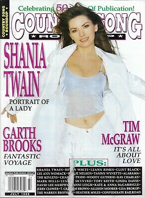 SHANIA TWAIN - COUNTRY SONG Round-Up Mag - July 1999 - GARTH BROOKS -  BRAND NEW
