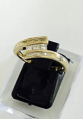Unique Womens Genuine Diamond and 9K yellow gold Ring- valuation $3220